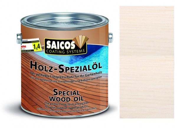 Saicos Holz-Spezialöl Weiß transparent