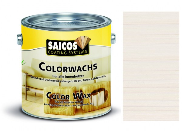 Saicos Colorwachs weiß transparent 0,75