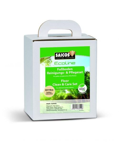Saicos Ecoline Fußboden Reinigungs- & Pflegeset für geölte Böden