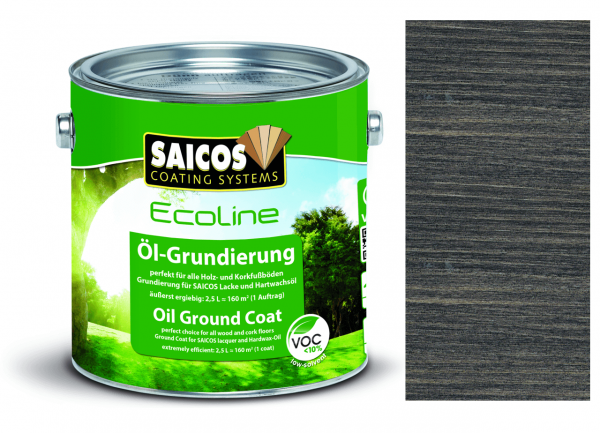 Saicos Ecoline Öl-Grundierung Ebenholz transparent, 2,5l