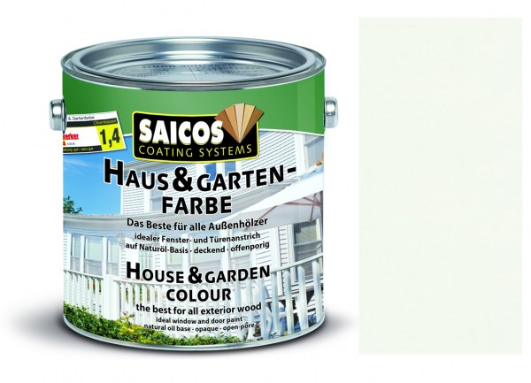 Saicos Haus & Gartenfarbe Weiß 2,5 Liter