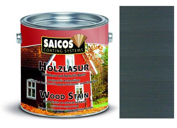 Saicos Holzlasur Anthrazit, 0,75 Liter