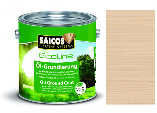 Saicos Ecoline Öl-Grundierung Birnbaum transparent, 2,5
