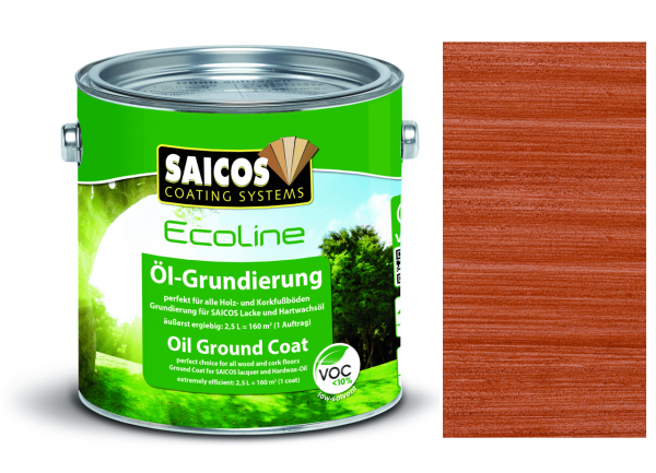 Saicos Ecoline Öl-Grundierung Mahagoni transparent, 2,5l