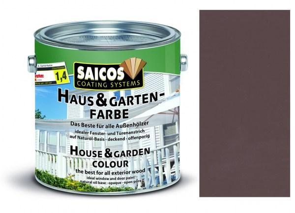 Saicos Haus & Gartenfarbe Nussbraun 0,75 Liter
