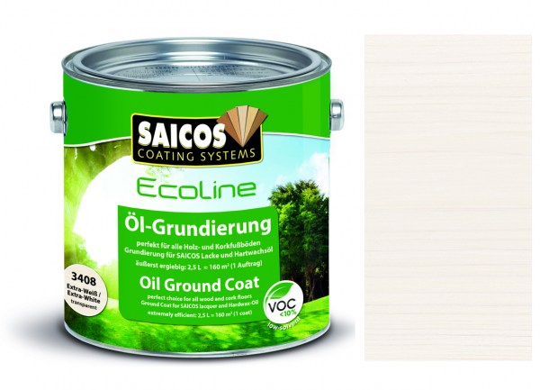 Saicos Ecoline Öl-Grundierung Extra-Weiß transparent