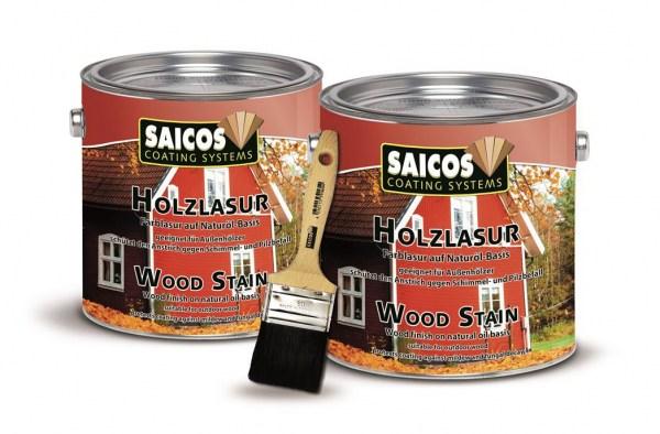 Sonderangebot 2 x Saicos Holzlasur 2,5l + Flächenstreicher 50mm