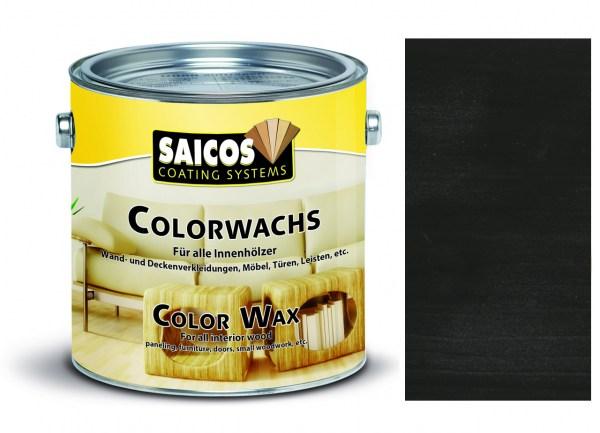 Saicos Colorwachs Schwarz deckend 2,5l