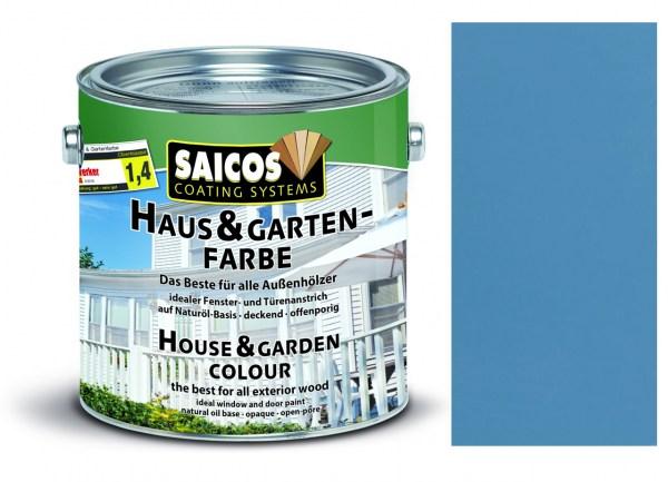Saicos Haus & Gartenfarbe Taubenblau 0,75 Liter