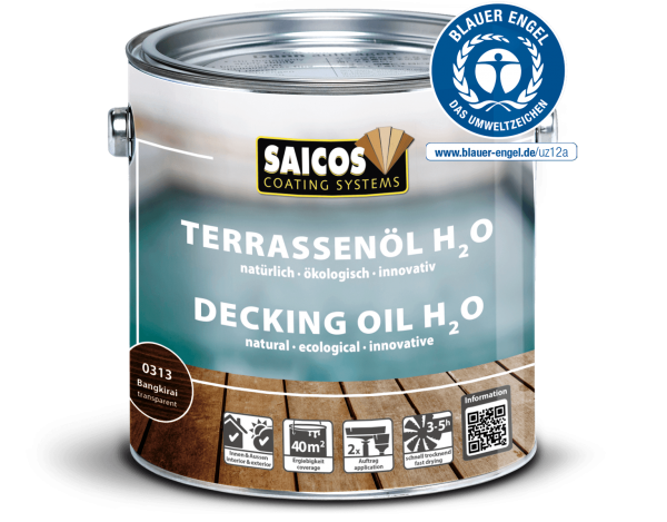 Saicos Terrassenöl H2O Teak transparenti,2,5l