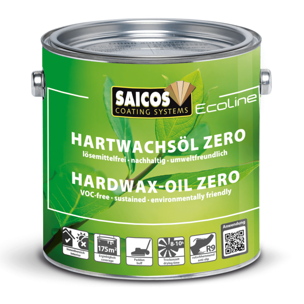 Saicos Ecoline Hartwachsöl Zero Seidenmatt farblos, 2,5l