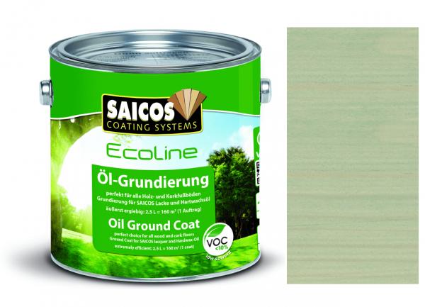 Saicos Ecoline Öl-Grundierung Silbergrau transparent, 2,5l