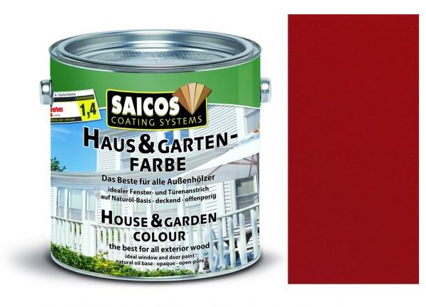 Saicos Haus & Gartenfarbe Schwedenrot 2,5 Liter