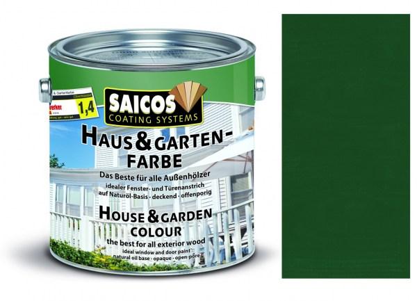 Saicos Haus & Gartenfarbe Tannengrün 0,75 Liter