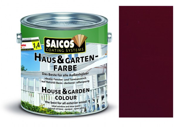 Saicos Haus & Gartenfarbe Bordeauxrot 2,5 Liter
