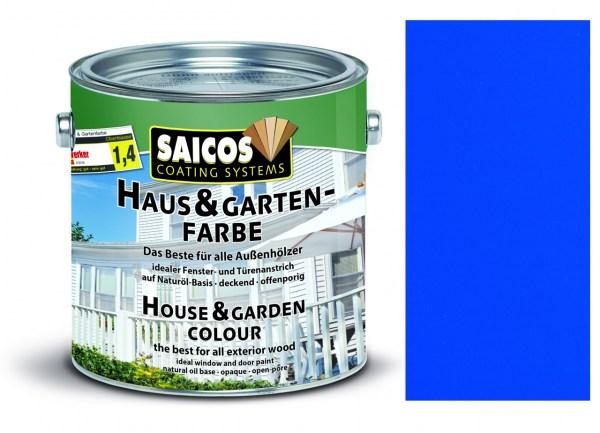 Saicos Haus & Gartenfarbe Azurblau, 0,75 Liter