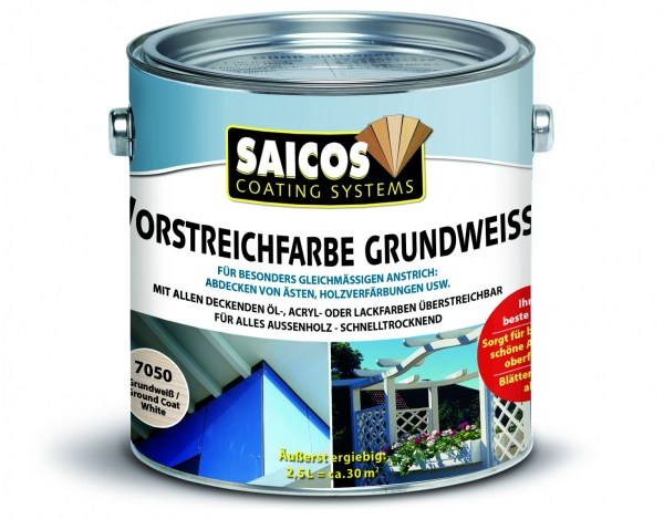 Saicos Vorstreichfarbe Grundweiss, 2,5 Liter