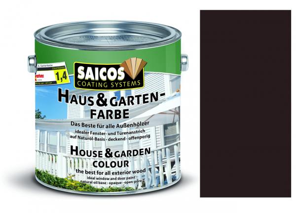 Saicos Haus & Gartenfarbe Mahagonibraun, 0,75l
