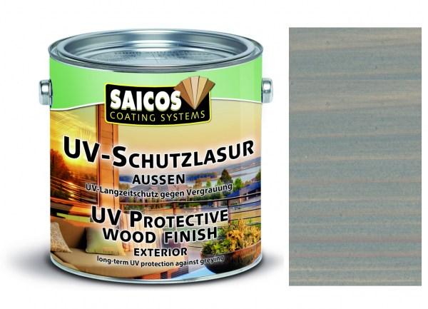 Saicos UV-Schutzlasur aussen grau transparent, 0,75 Liter