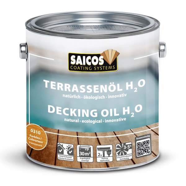 Saicos Terrassenöl H2O Lärche, 2,5l