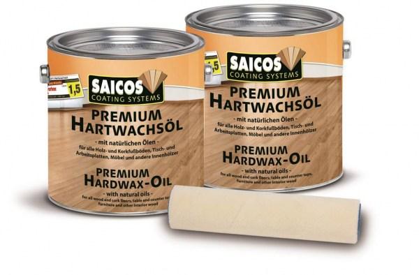 Sonderangebot 2 x Saicos Premium Hartwachsöl 2,5l + Öl-Wachs Rolle
