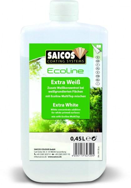 Saicos Ecoline Zusatz Extra Weiß, 0,45l