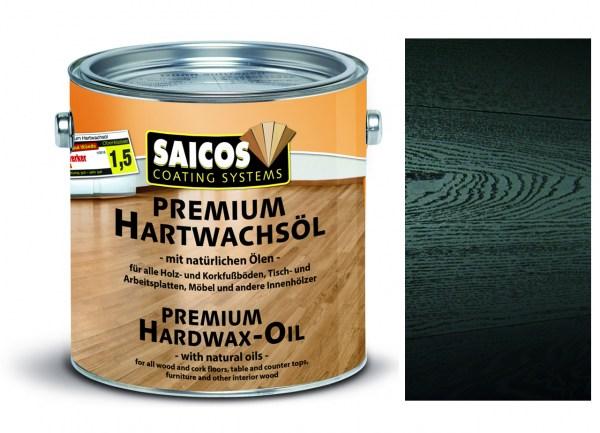 Saicos Premium Hartwachsöl schwarz deckend ultramatt, 2,5 l