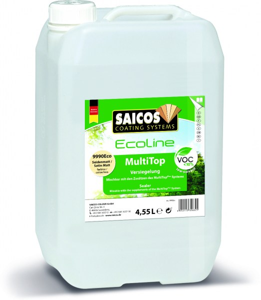 Saicos Ecoline Multi Top Seidenmatt farblos, 4,55l