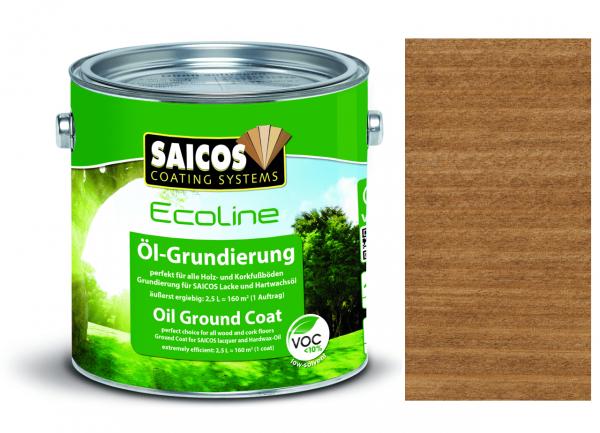 Saicos Ecoline Öl-Grundierung Nussbaum transparent, 2,5l