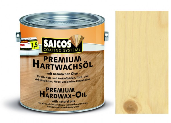 Saicos Premium Hartwachsöl Ultramatt farblos