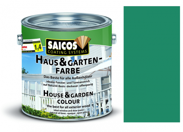 Saicos Haus & Gartenfarbe Seychellenblau, 0,75l