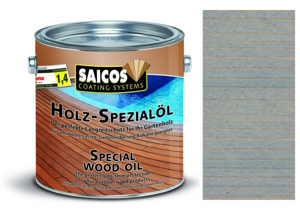 Saicos Holz-Spezialöl Grau transparent