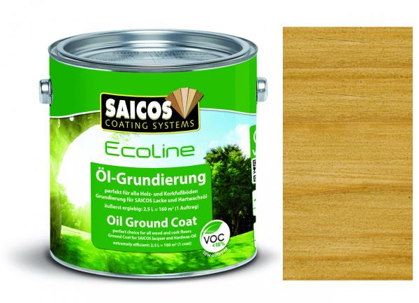Saicos Ecoline Öl-Grundierung Eiche transparent, 2,5l