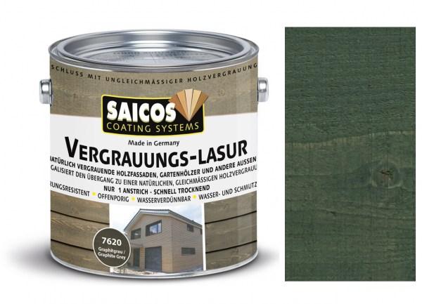 Saicos Vergrauungs-Lasur graphitgrau, 2,5l