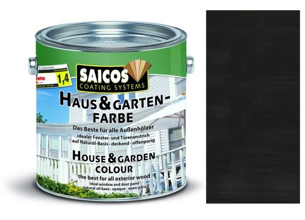 Saicos Haus & Gartenfarbe Graphit 0,75 Liter