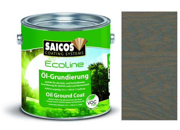 Saicos Ecoline Öl-Grundierung Basaltgrau transparent, 2,5l