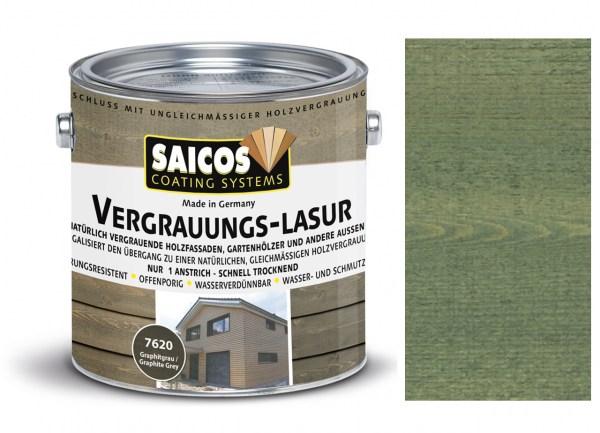 Saicos Vergrauungs-Lasur steingrau, 2,5l