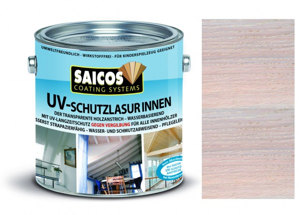 Saicos UV-Schutzlasur Innen weiß transparent
