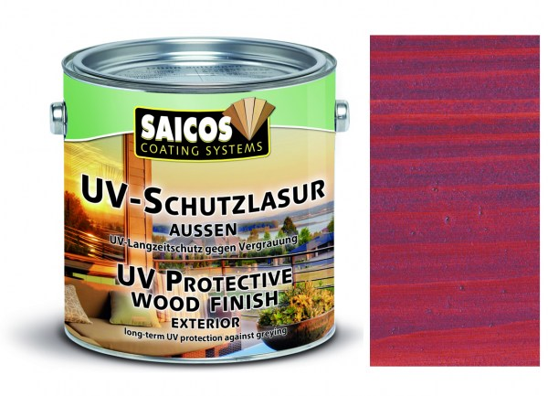 Saicos UV-Schutzlasur aussen mahagoni, 2,5 Liter