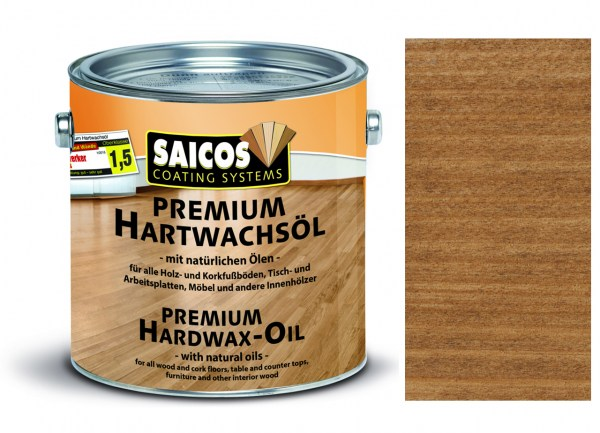 Saicos Premium Hartwachsöl Nussbaum transparent matt