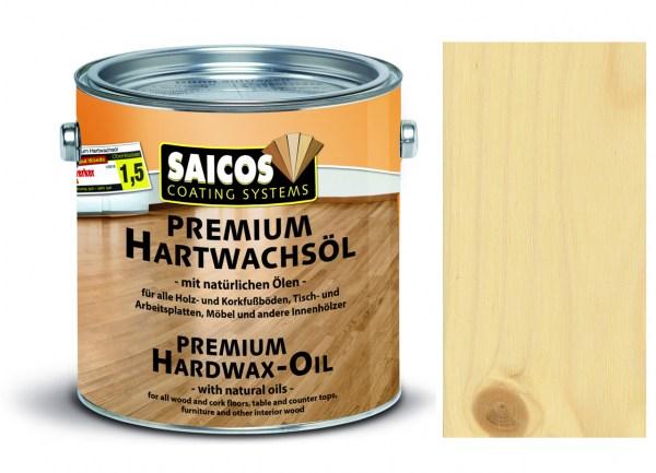 Saicos Premium Hartwachsöl Seidenmatt farblos 2,5 Liter