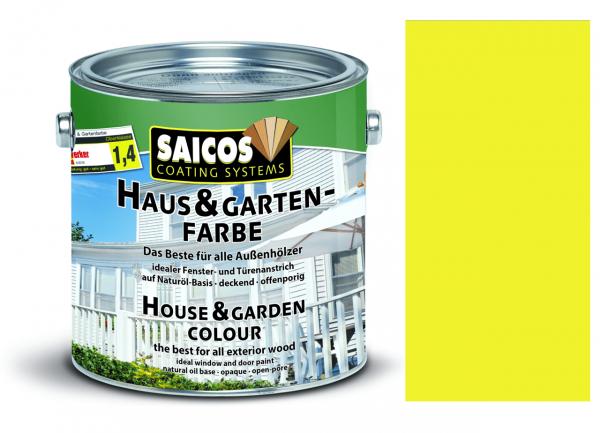 Saicos Haus & Gartenfarbe Zitronengelb, 2,5l