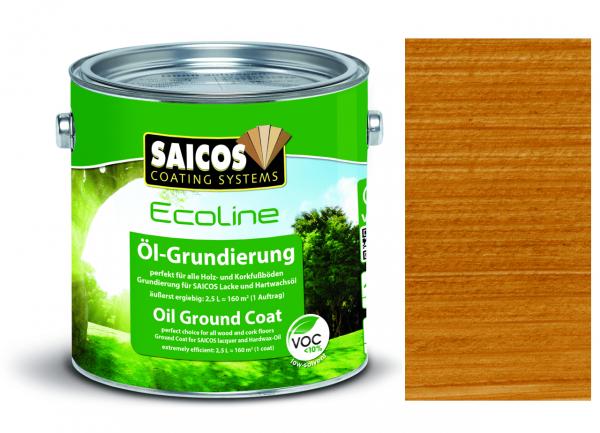 Saicos Ecoline Öl-Grundierung Teak transparent, 2,5l