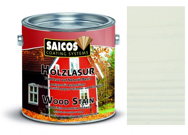 Saicos Holzlasur Weiß transparent 0,75 Liter